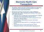 electronic health care transactions