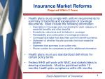 insurance market reforms required within 2 years