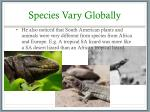 species vary globally2