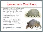 species very over time