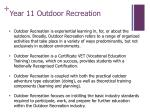 year 11 outdoor recreation