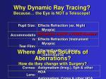 why dynamic ray tracing because the eye is not a telescope