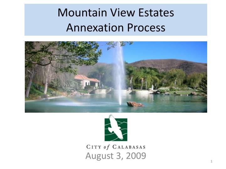 mountain view estates annexation process n.