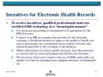 incentives for electronic health records