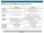 medicare and medicaid incentives