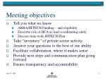 meeting objectives