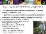 esc 10026 environmental geophysics