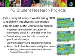 pg student research projects