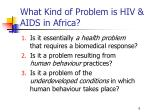 what kind of problem is hiv aids in africa