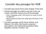 consider key passages for hob