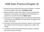 hob exam practice chapter 4
