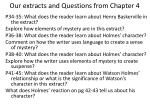 our extracts and questions from chapter 4