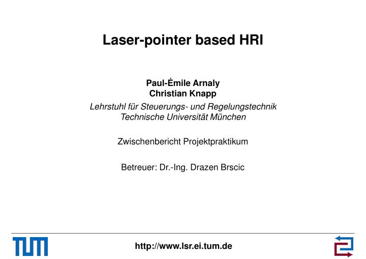 laser pointer based hri n.