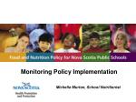 monitoring policy implementation michelle murton school nutritionist