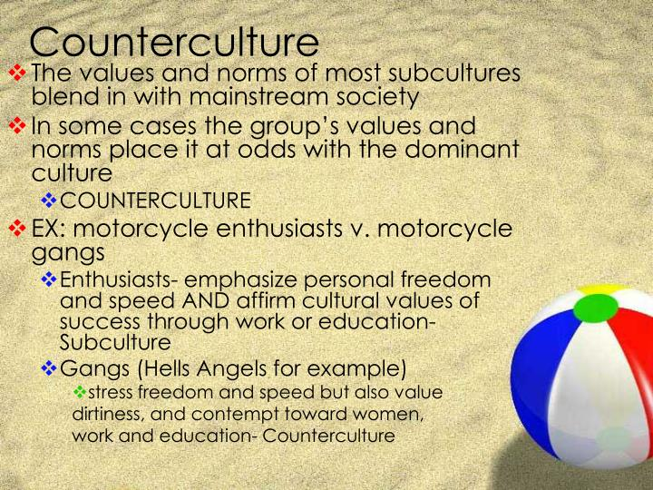 examples of subcultures and countercultures