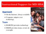 instructional support for md hsa2