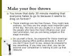 make your free throws