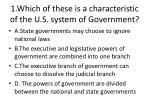 1 which of these is a characteristic of the u s system of government