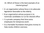 15 which of these is the best example of an interest group
