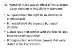 21 which of these was an effect of the supreme court decision in mcculloch v maryland