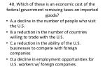 40 which of these is an economic cost of the federal government removing taxes on imported goods