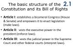 t he basic structure of the constitution and its bill of rights