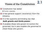 views of the constitution