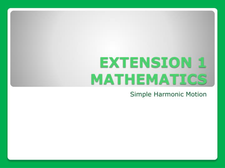 extension 1 mathematics n.