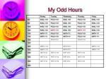 my odd hours