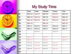 my study time