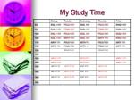 my study time1