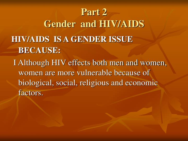 part 2 gender and hiv aids n.