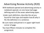 advertising review activity r20