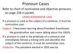 pronoun cases