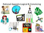 rational appeals logical convincing