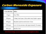 carbon monoxide exposure