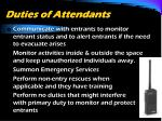 duties of attendants1