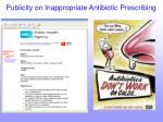 publicity on inappropriate antibiotic prescribing