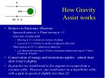 how gravity assist works