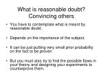what is reasonable doubt convincing others