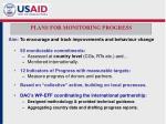 plans for monitoring progress