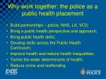 why work together the police as a public health placement