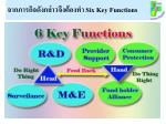 six key functions