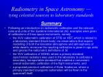 radiometry in space astronomy tying celestial sources to laboratory standards18
