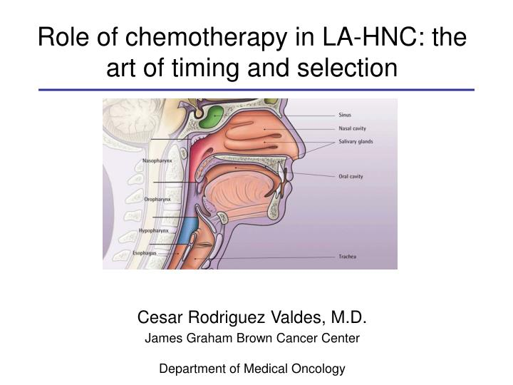 role of chemotherapy in la hnc the art of timing and selection n.