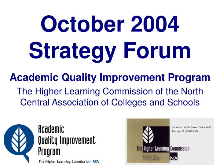 october 2004 strategy forum n.