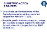 submitting action projects