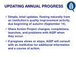 updating annual progress