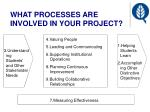 what processes are involved in your project