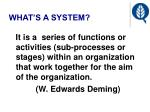 what s a system